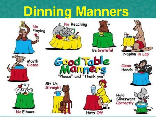 Good manners satya for 10 good table manners