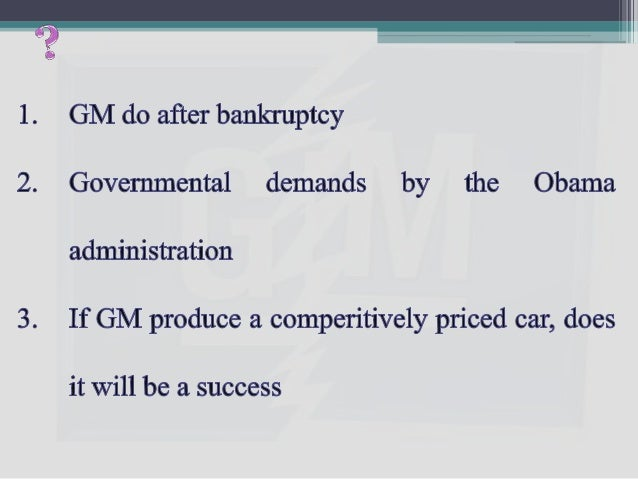 There is a danger that with the government as its biggest shareholder, GM will be pushed into making the kind of cars—sma...