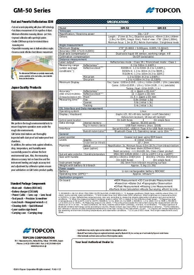 MAU COD ?? Jual Total Station Topcon GM-55 (Tlp.0819 3248 2336) Slide 2