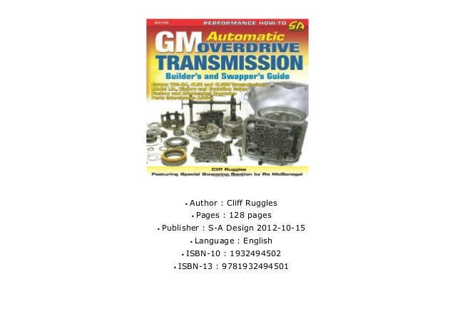 Gm automatique overdrive transmission builder/'s guide-book SA140