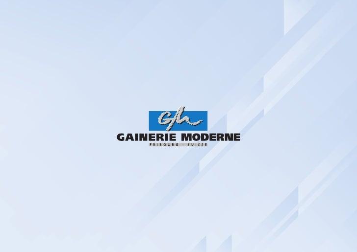 Présentation et visite de Gainerie Moderne SA