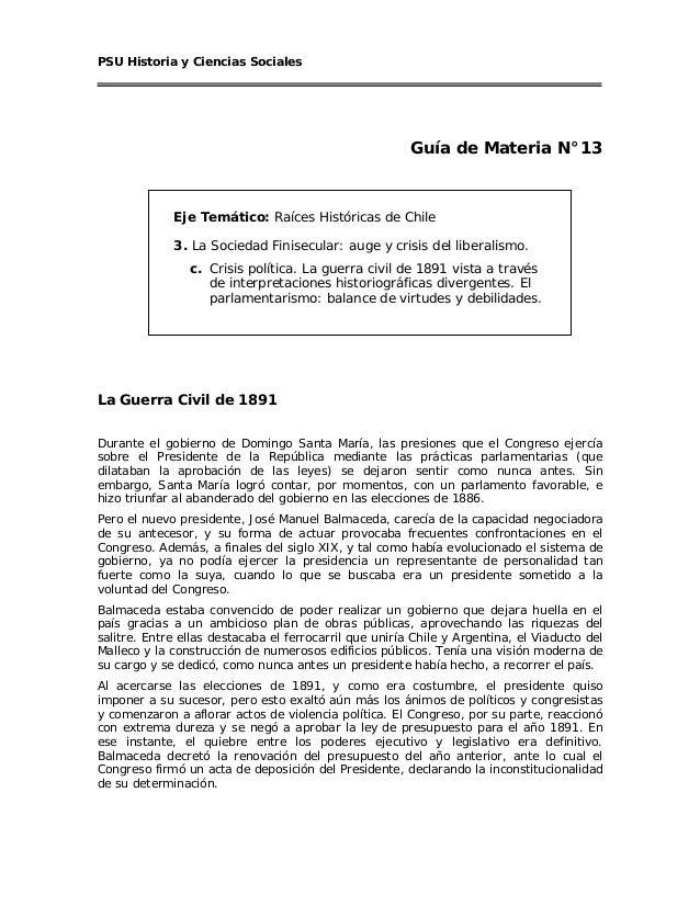 PSU Historia y Ciencias Sociales                                                        Guía de Materia N°13             E...