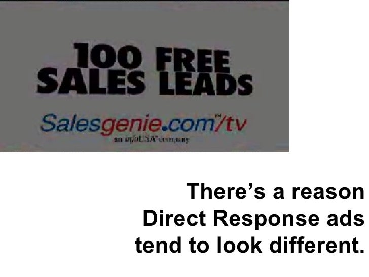 There's a reason Direct Response ads tend to look different.