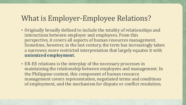 conflict in the employment relationship
