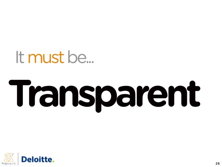It must be...  Transparent                 26