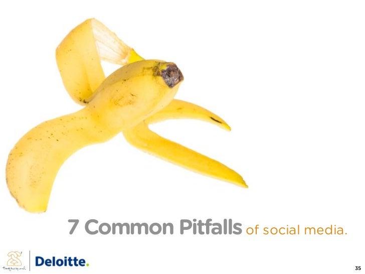 7 Common Pitfalls of social media.                                      35