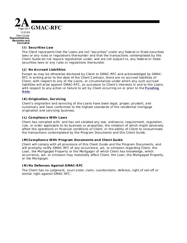 Gmac Mortgage Underwriting Guidelines 9 11 2006