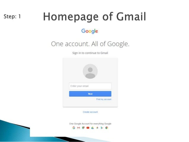 Gmail account signup process