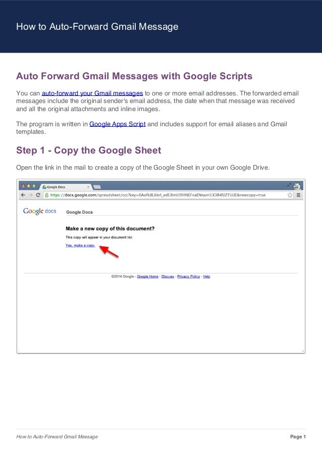 How to Auto-Forward Gmail Message  Auto Forward Gmail Messages with Google Scripts You can auto-forward your Gmail message...