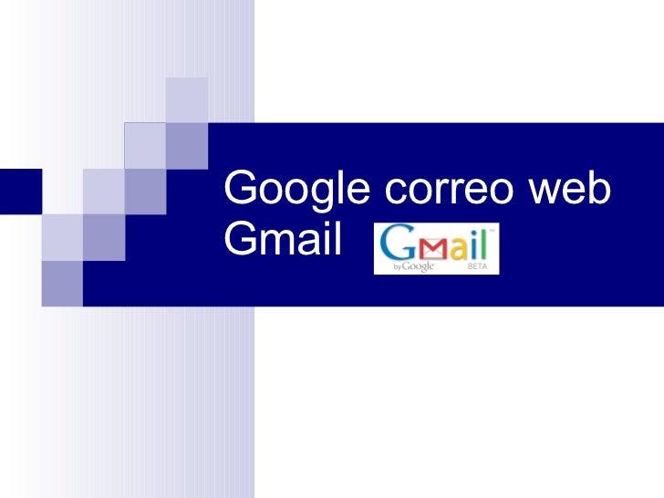 Google correo web Gmail