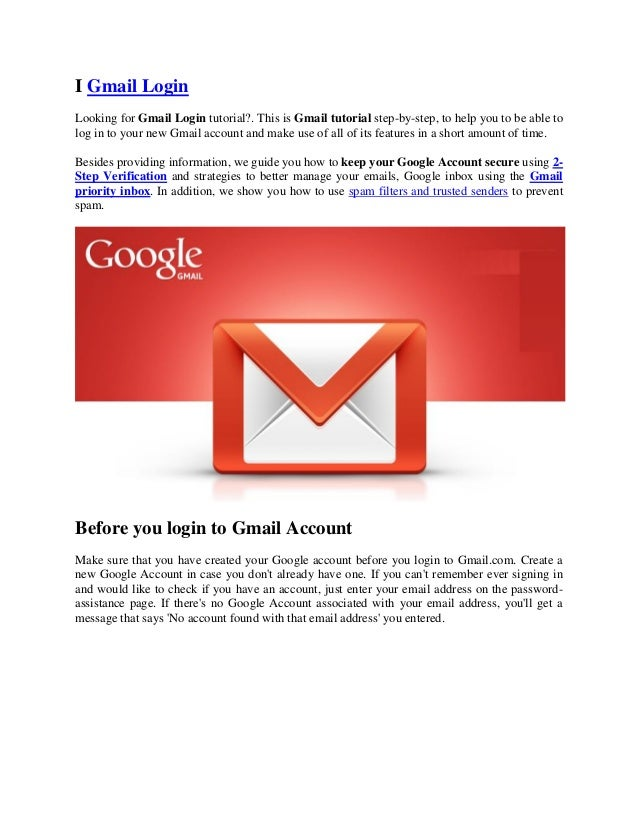 Gmail Login and how to solve gmail login problems