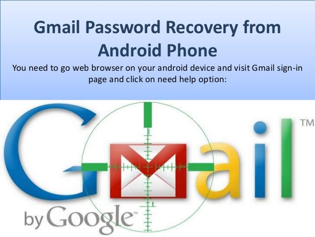 Forgot gmail password android phone