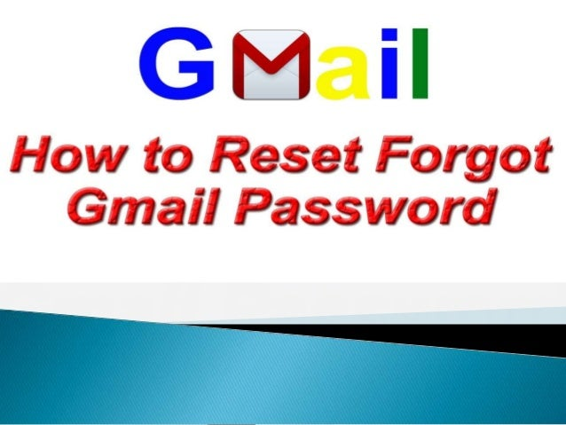 How to fix gmail forgot password