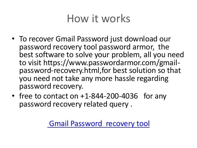 software for gmail password recovery