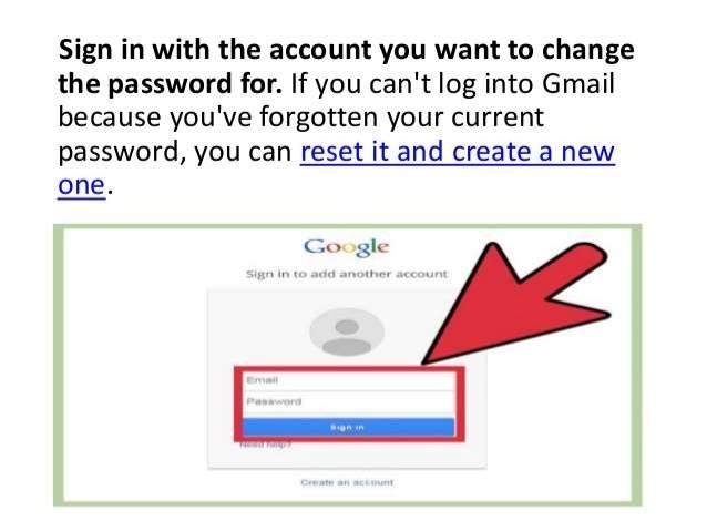 How To Change Your Gmail Password How To Recover Gmail Password