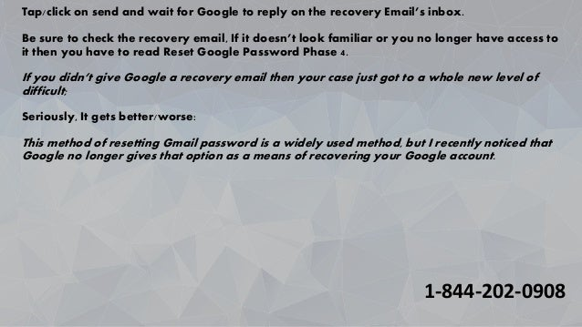 recover google password without resetting