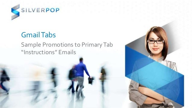 "GmailTabs Sample Promotions to PrimaryTab ""Instructions"" Emails"