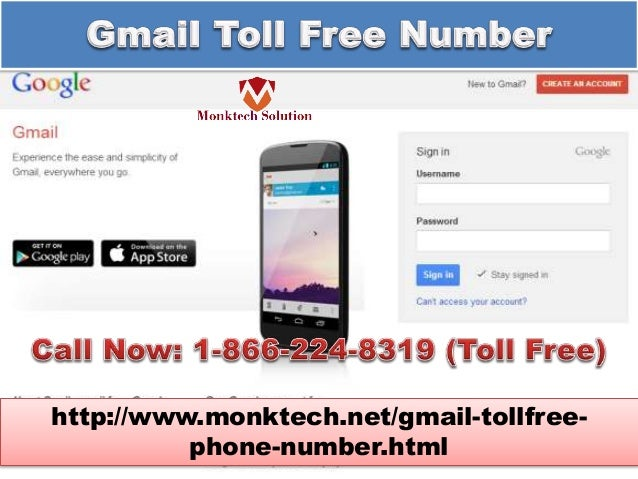 Gmail Toll Free Phone Number 1-866-224-8319 (toll-free