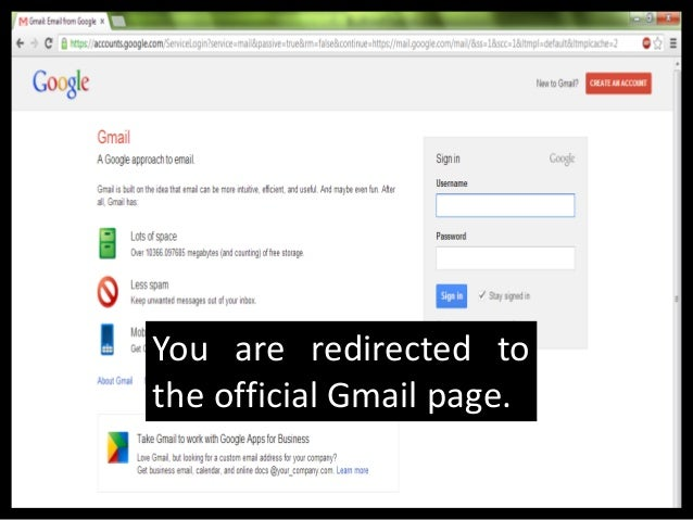 Create a new Gmail Accountpage comes up.