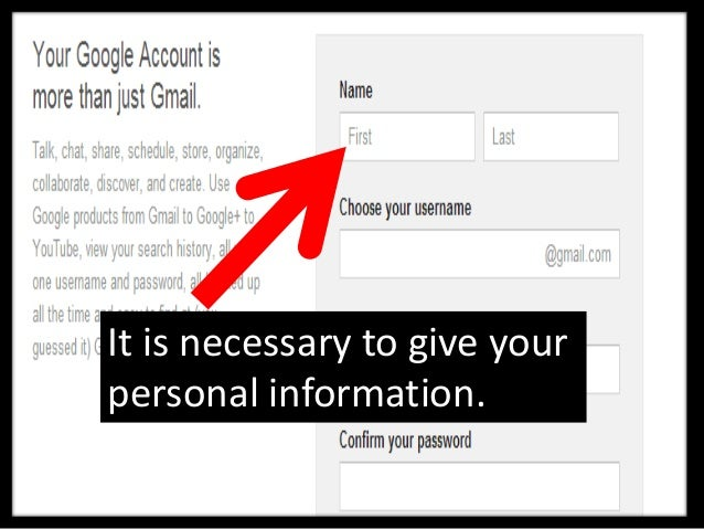 It means that you can starttyping the personal details.