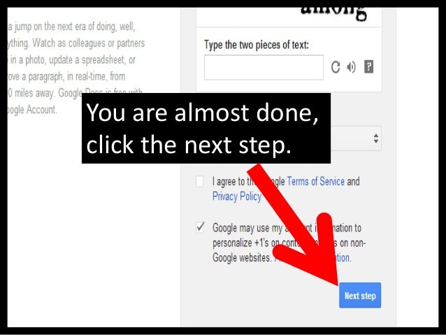 Click on Continue to Gmailto start using your account.