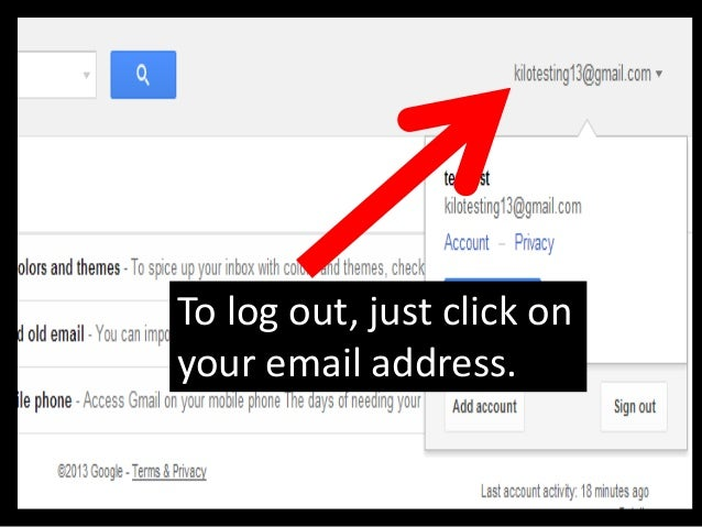 You are back to official Gmail page.