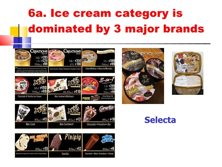 marketing plan for selecta ice cream New delicious and nutritious ice creams deliver category-leading levels of protein per serving in seven flavors that'll blow away the better-for-you ice cream.