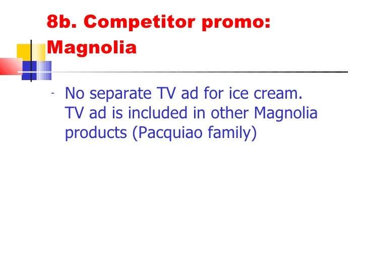 arce dairy ice cream marketing plan Selecta is a dairy products brand owned by philippines-based rfm corporation ( pse: rfm) its milk business is operated by rfm corporation, while its ice cream   industry, dairy industry  the youngest son of ramon and carmen arce,  revived the arce family's original ice cream business under a new name, arce  dairy.