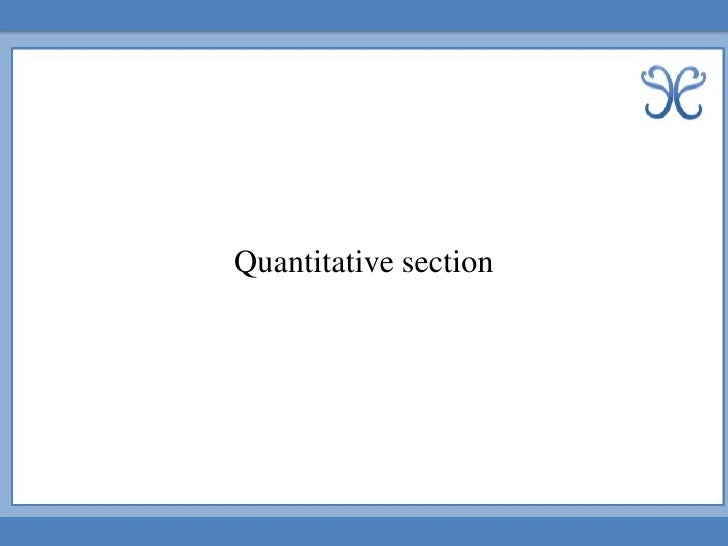 Quantitative section<br />