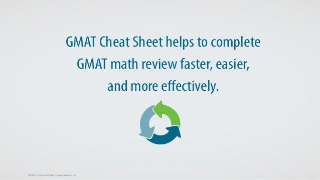 GMAT Cheat Sheet - an Efficient Tool for GMAT Math Review