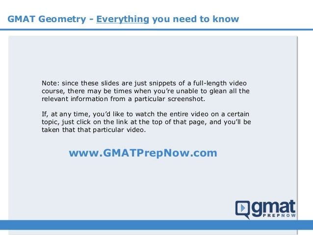 GMAT Geometry - everything you need to know  Slide 2