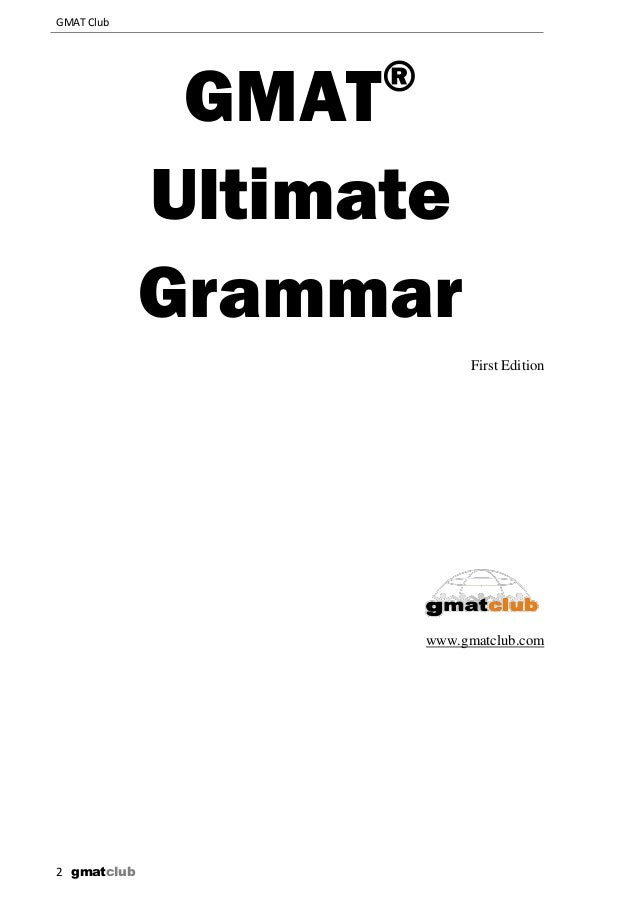 Gmat grammar book june5 2012