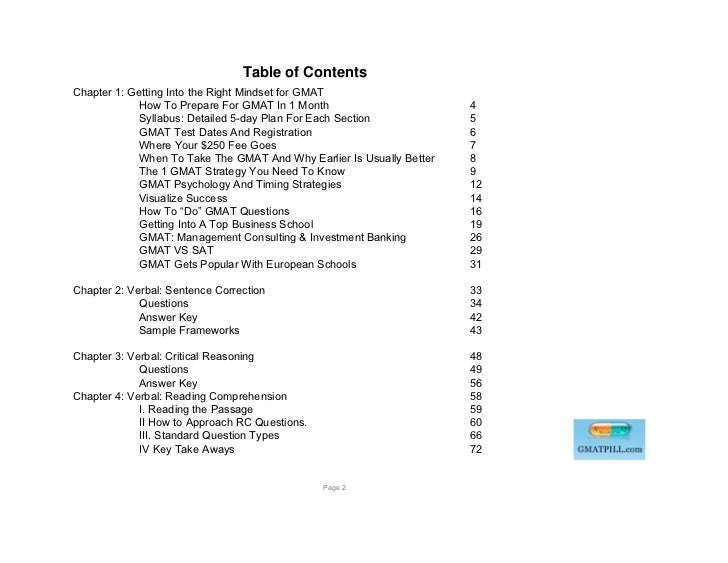 Table of ContentsChapter 1: Getting Into the Right Mindset for GMAT             How To Prepare For GMAT In 1 Month        ...
