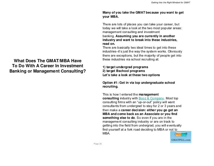 Getting Into the Right Mindset for GMAT                                               Many of you take the GMAT because yo...