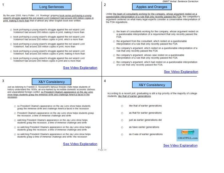 GMAT Verbal: Sentence Correction1                                             2    Long Sentences                         ...