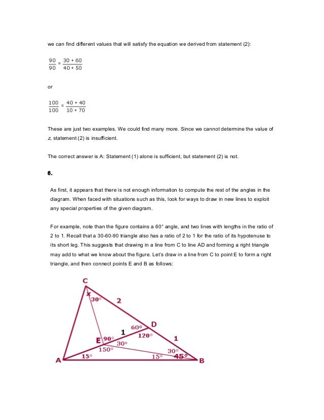 Gmat quant topic 5 geometry solutions
