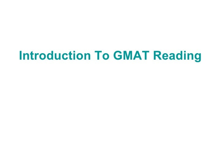 Introduction To GMAT Reading Comprehension Questions