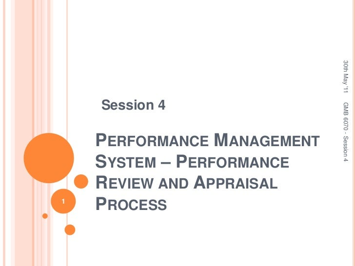 Session 4<br />Performance Management System – Performance Review and Appraisal Process<br />30th May '11<br />1<br />GMB ...
