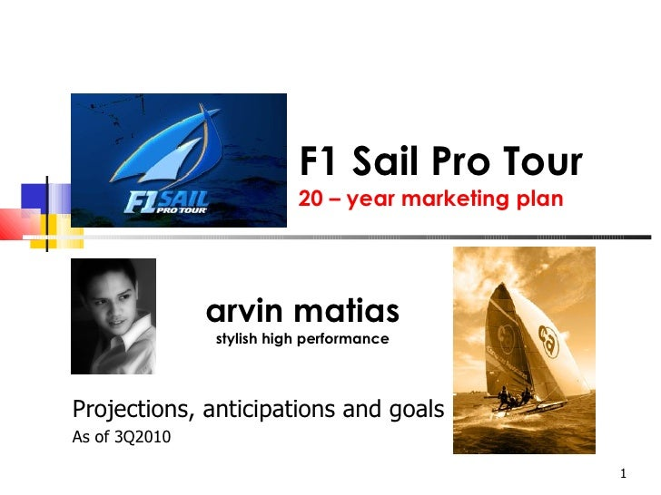 F1 Sail Pro Tour 20 – year marketing plan arvin matias stylish high performance Projections, anticipations and goals  As o...