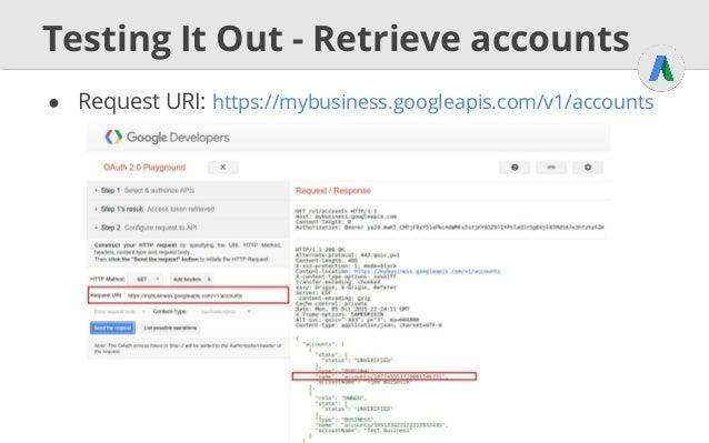 GMB API (Google My Business)