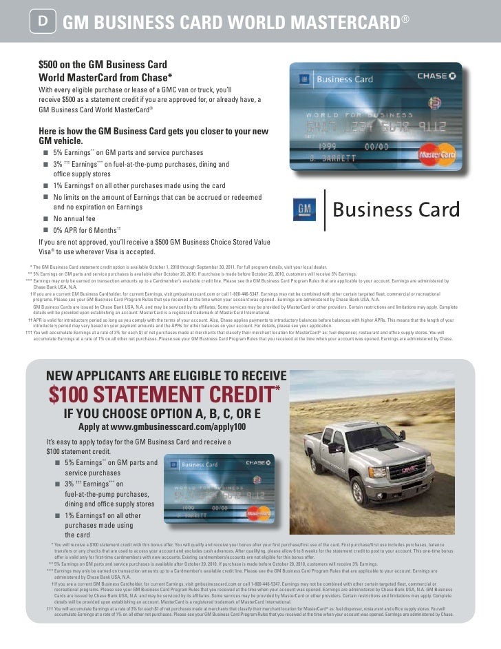 Gmc business choice wisconsin gm business card colourmoves