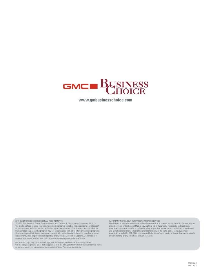 GMC Business Choice Wisconsin