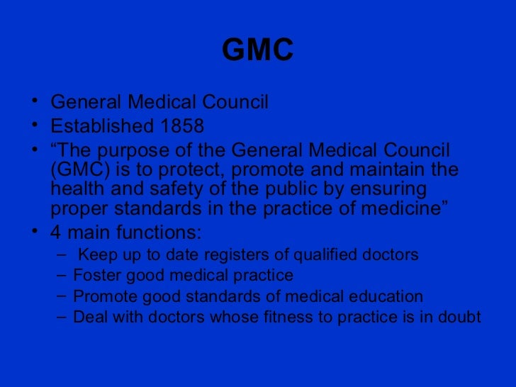 Gmc And What Makes A Good Doctor