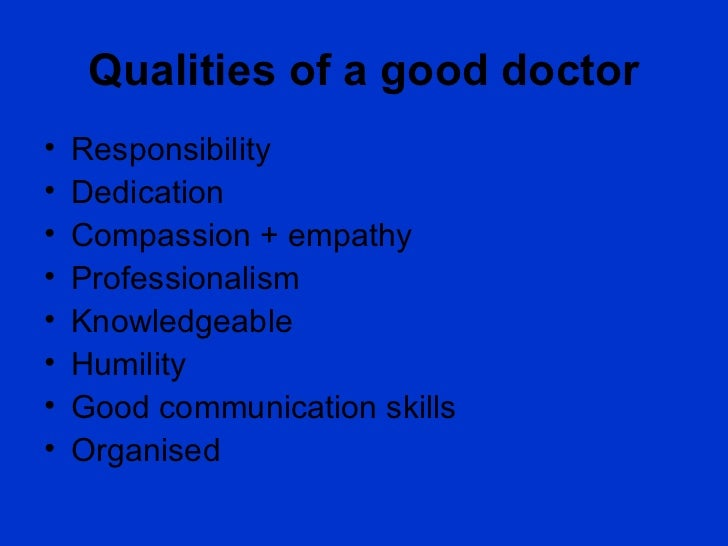 7 Key Traits of the Ideal Doctor