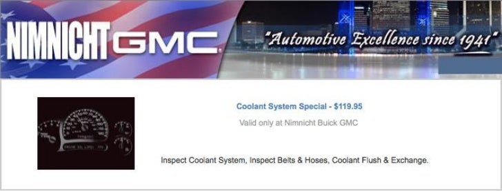 GMC Coolant Service Special FL | GMC Service Center in Jacksonville