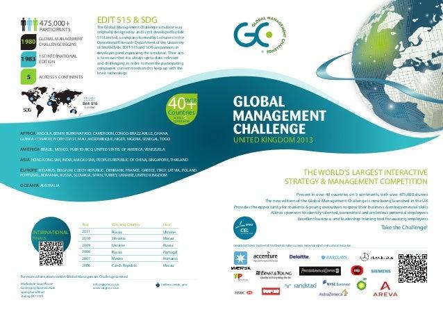 475,000+                               EDIT 515 & SDG                                                    The Global Manage...