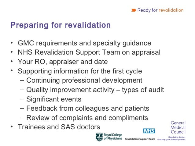 Gmc Revalidation Workshop At Agm 2012