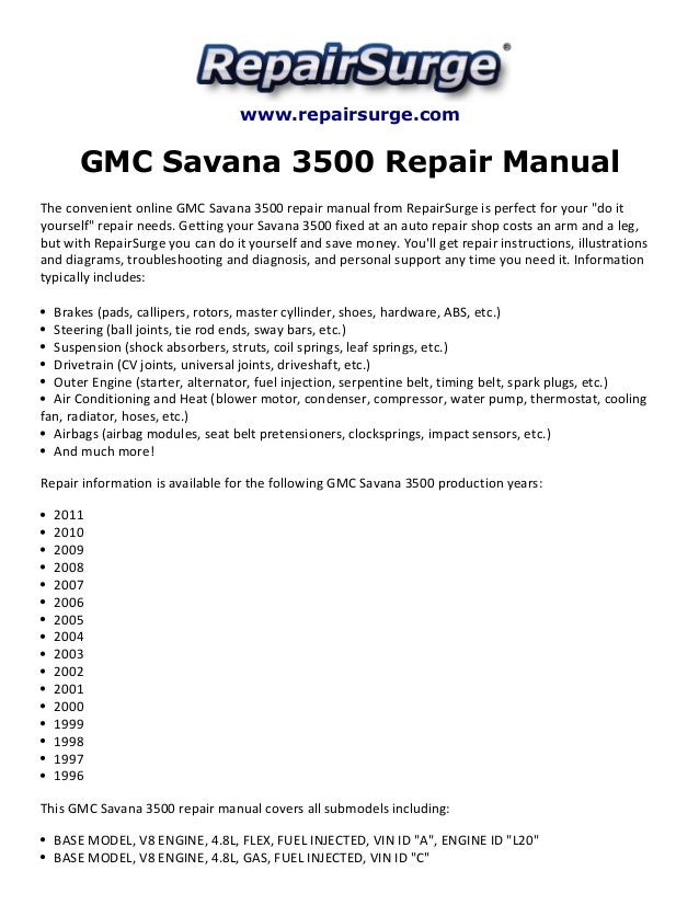 owners manual 2004 gmc savanna various owner manual guide u2022 rh justk co GMC Savana Conversion Van GMC Savana Cargo Van