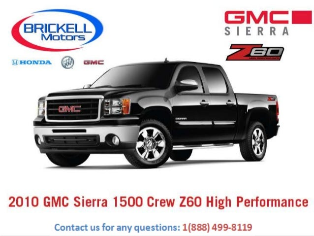 Gmc Sierra Miami Z60 Package