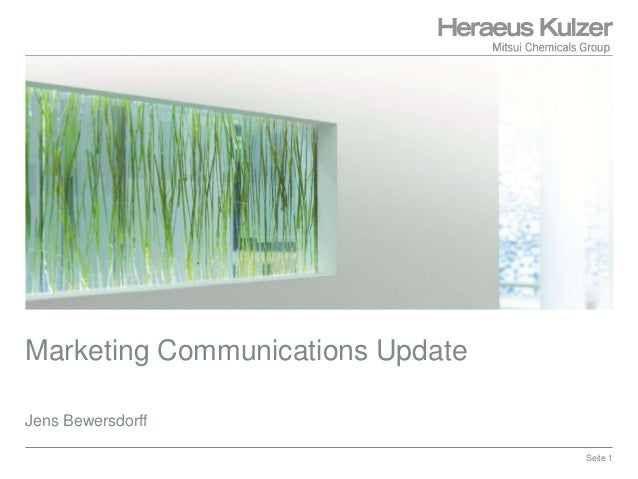 Marketing Communications Update Jens Bewersdorff Seite 1